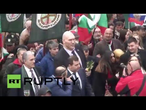 Bulgaria: Russia's Nikolai Valuev joins Ataka supporters for Liberation Day in Sofia