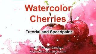 Painting Loose Watercolor Cherries:  A Skillshare Bonus Class
