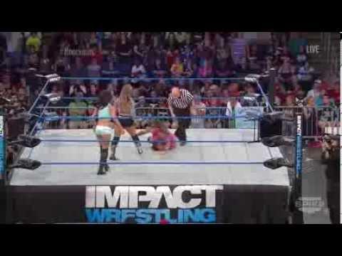 Impact Wrestling 2013/08/15 Mickie James vs  Gail Kim vs  ODB 720p HD