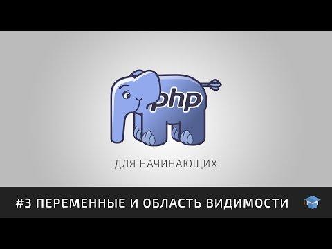 Курс уроков PHP для начинающих   #3 Переменные и область видимости
