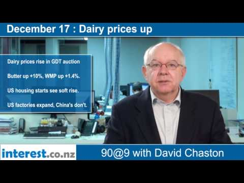 90 seconds @ 9am: Dairy prices up