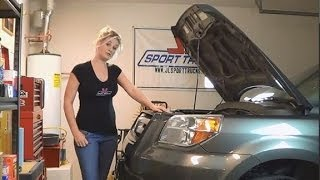 2007 Honda Pilot Oil Change Tutorial with Pretty Blonde by Howstuffinmycarworks