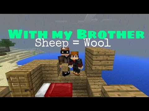 MCPE Fun Times   #3: With My Brother   Helping Him To Find Sheeps   Tagalog / Pinoy