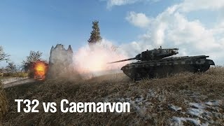 T32 vs Caernarvon [World of Tanks]