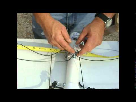 HF tape measure horizontal dipole antenna