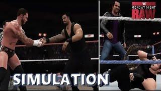 WWE 2K16 SIMULATION: CM Punk vs Roman Reigns (Jake Roberts Returns) | RAW Old School 2014 Highlights