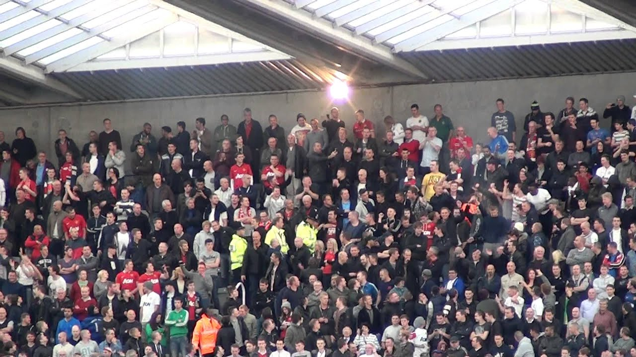 United Fans Flares Manchester United Fans With