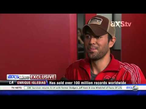 Exclusive Interview For Axs Live Enrique Iglesias Talks About His Single finally Found You video