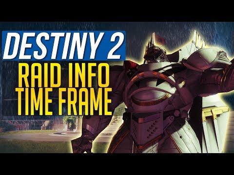Destiny 2 RAID INFO - RAID RELEASE TIME FRAME - RAID MECHANICS - RAID DEATHS