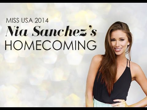 Miss USA 2014 Nia Sanchez's Homecoming in Nevada