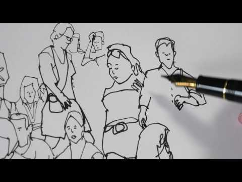 Sketching a Crowd of People (timelapse)