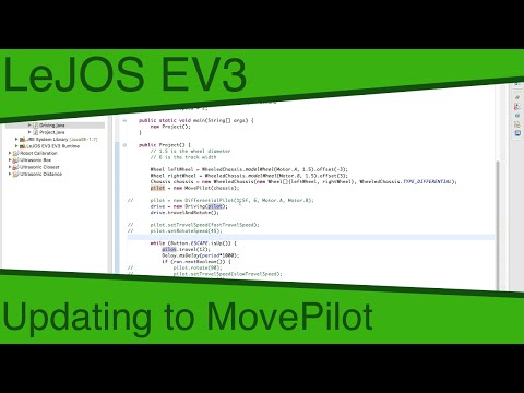 LeJOS EV3 Ep27 - Updating To MovePilot