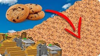 TSUNAMI DE GALLETAS DE CHOCOLATE EN MINECRAFT | RETO DE LA BASE VS TSUNAMI EN MINECRAFT