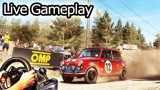 DiRT Rally - awesome little Mini Cooper! Simulator gameplay, Steering Wheel Fully Manual, 2015 HD.