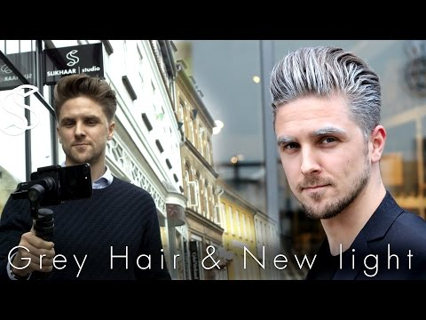 How to get platinum hair with a hair wax - silver toned look