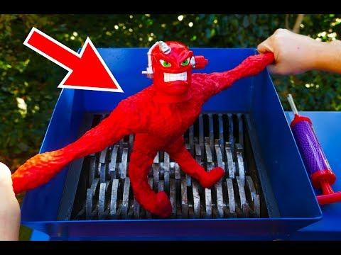 SHREDDING STRETCH VAC-MAN TOY! AMAZING VIDEO!