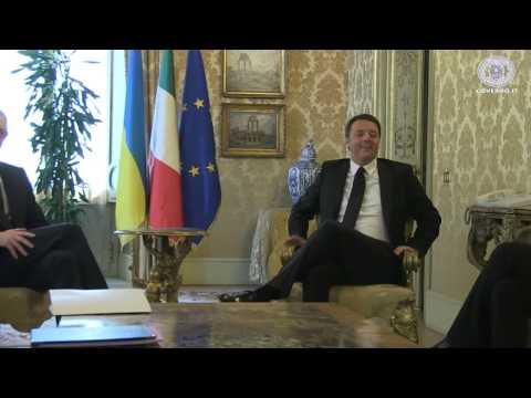 Renzi incontra il premier ucraino Arseniy Yatsenyuk