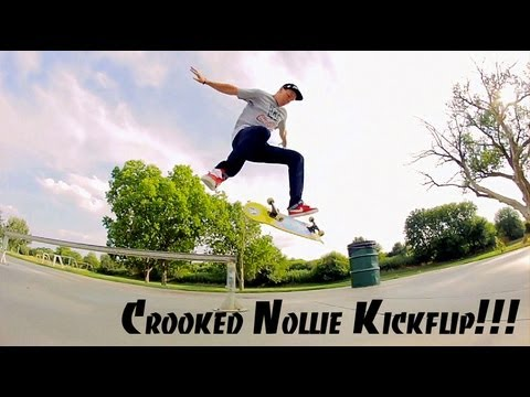 Crooked Grind Nollie Kickflip Out, Perfect!