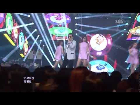 PSY_0902_SBS Inkigayo_GANGNAM STYLE (�����) *Special appearance: IU (����: ���) Copyright�2012 SBS Contents Hub Co.,Ltd. & YG Entertainment Inc. All rights r...
