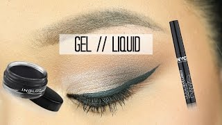 GEL and LIQUID Winged Eyeliner Tutorial | MEI