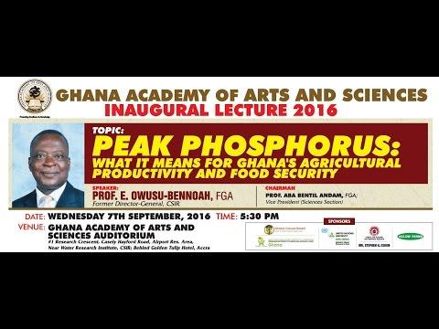 LIVE STREAM - Inaugural Lecture by Prof. E. Owusu-Bennoah