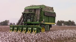 How a John Deere 9986 Makes a Bale of Cotton