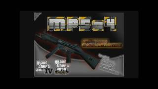 MP5a4 with WORKING FLASHLIGHT for GTA IV and GTA: EFLC
