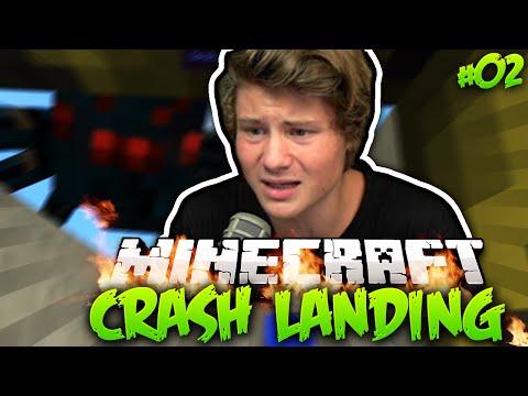 Der Kampf ums NACKTE ÜBERLEBEN! | Minecraft Crash Landing #2 mit Dner