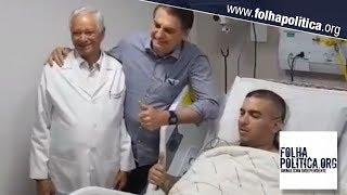 Bolsonaro vai ao hospital para visitar policial que se acidentou em sua escolta