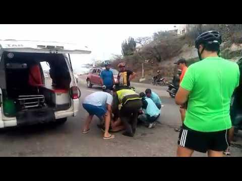 Joven fue atropellado por una camioneta cuando se ejercitaba en el Ziruma