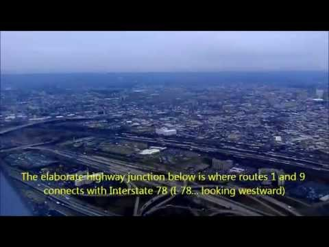 Aerial Flyby Shooting Tour of San Gabriel Valley CA from Jet Airliner Starting in Newark NJ