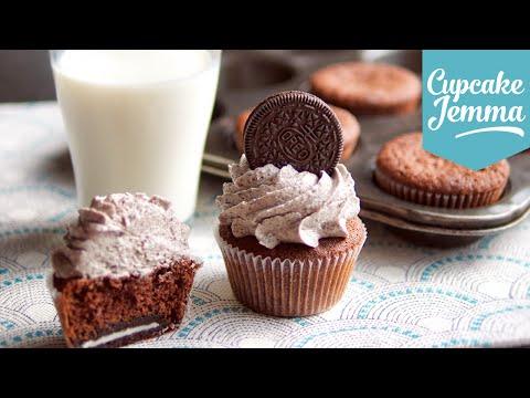 Cookies &amp  Cream Oreo Cupcake Recipe   Cupcake Jemma
