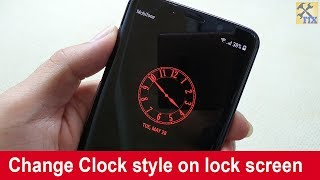 How to change Clock on lock screen for Samsung phones