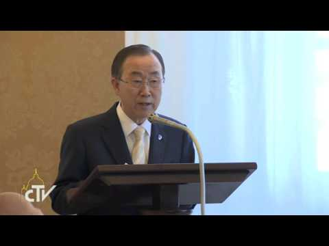Secretary-General Ban Ki-moon meets with Pope Francis I in Rome