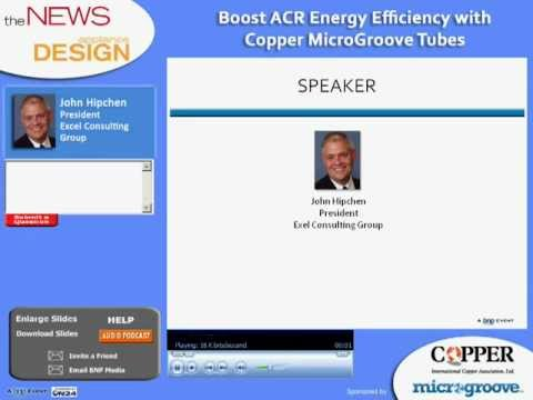 Webinar: Boost ACR Energy Efficiency with Copper MicroGroove Tubes Webinar