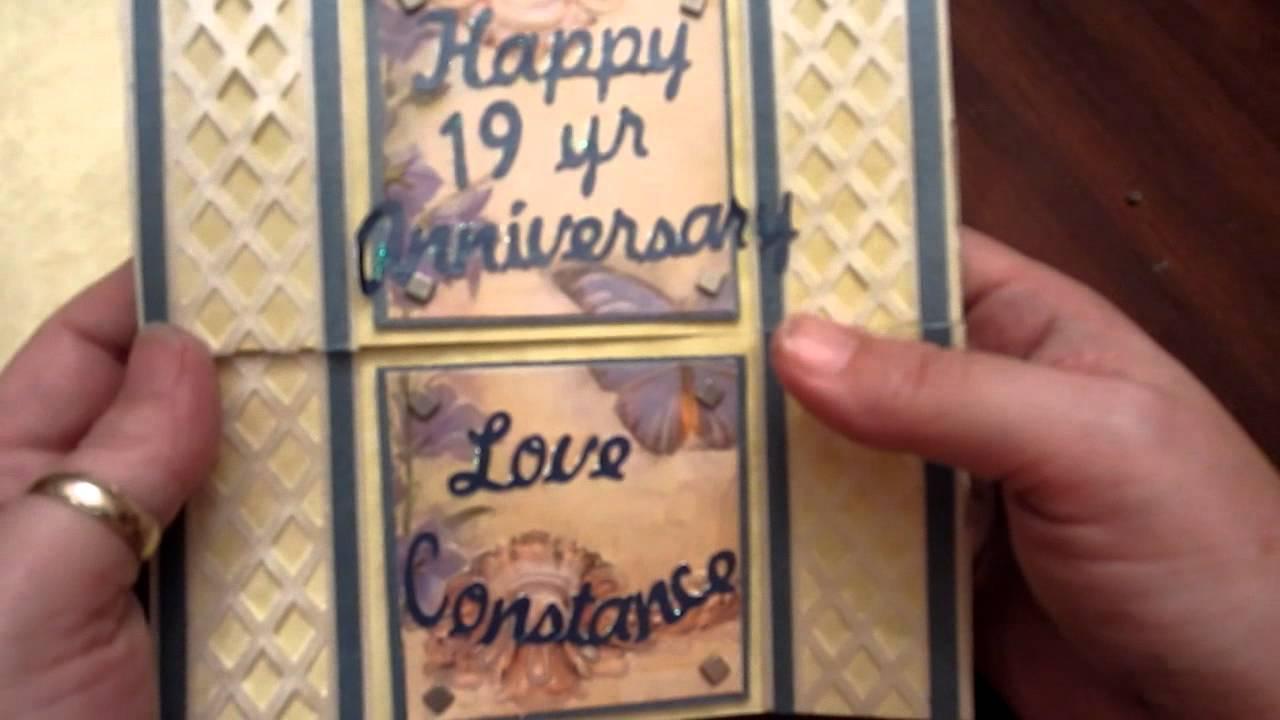 Anniversary card never ending style using billionaire font