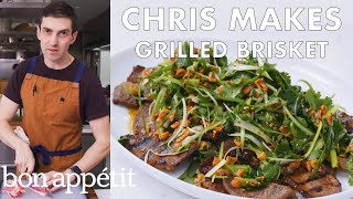 Chris Makes Grilled Brisket | From the Test Kitchen | Bon Appétit