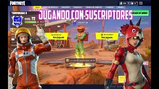 JUGANDO CON SUBS FORTNITE EN DIRECTO XBOX ONE PC PS4 SWITCH IPHONE ANDROID XD