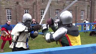 Scottish Knight League 1 v 1 Medieval full-contact longsword fight at Scone Palace, Scotland