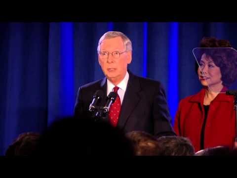 Senate Minority Leader Mitch McConnell re-elected in Kentucky