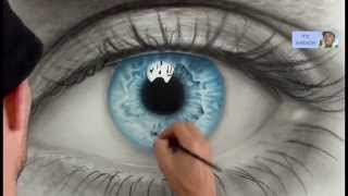 How to Draw a AMAZING realistic eye. Speed painting
