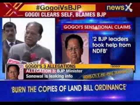 Tarun Gogoi blames Centre for Assam violence