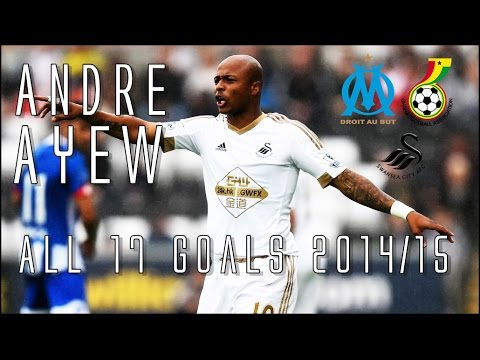 Andre Ayew // SWANSEA CITY'S New Signing // All 17 Goals for Marseille & Ghana 2014/15 // HD