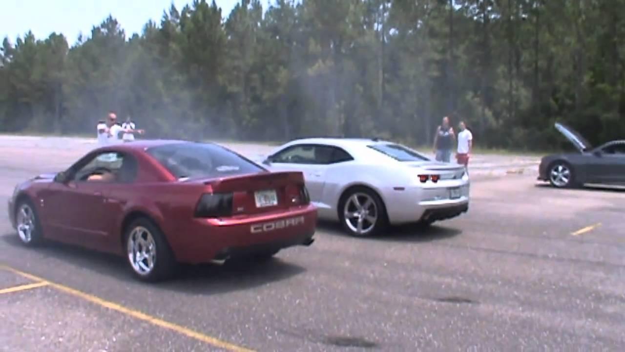 2003 Cobra vs TT 2010 Camaro SS.wmv - YouTube