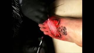 My Heart Locket Foot Tattoo