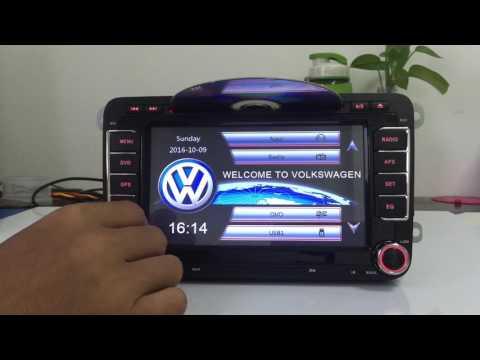 ZK-7288V 7 Inch Capacitive  VW Passat Jetta Car Radio GPS 3G
