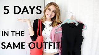 5 Days Of Wearing The Same Outfit   Try Living With Lucie   Refinery29