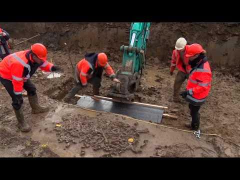 Opgraving prehistorisch familiegraf Tiel-Medel © Jan Bouwhuis