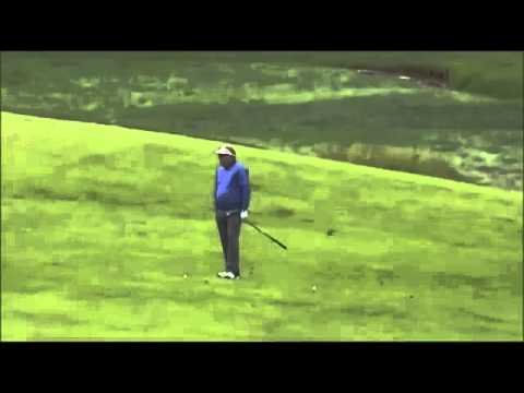 Carl Pettersson US Open 2013 Merion Ball Is Hit By Another Ball During Mid Swing Rule 18-5 HD