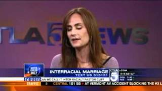 Diane Farr Speaks on Interracial Relationships on KTLA 5 Morning News
